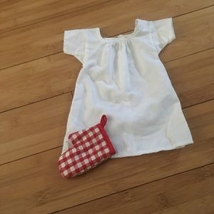 Authentic American Girl nightgown and potholder